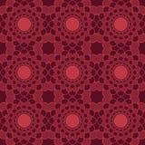 Nahtlose Muster des Rotuniversalvektors, deckend mit Ziegeln Geometrische Verzierungen Stockfotos