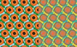 Nahtlose Muster des Sonnenblumenfelds Stockfoto