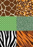 Nahtlose Muster des Tierdruckes Stockfoto