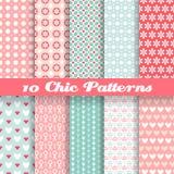 Nahtlose Muster des unterschiedlichen Vektors des Chic (Tiling). Stockfoto