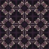 Nahtlose Muster des Veilchenuniversalvektors, deckend mit Ziegeln Geometrische Verzierungen Lizenzfreies Stockfoto