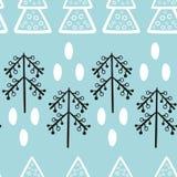 Nahtlose Muster des Weihnachts- und des neuen Jahresvektors vektor abbildung