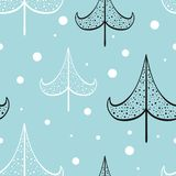 Nahtlose Muster des Weihnachts- und des neuen Jahresvektors lizenzfreie abbildung