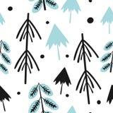 Nahtlose Muster des Weihnachts- und des neuen Jahresvektors stock abbildung