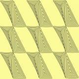 Nahtlose Muster eingestellt Geometrische grafische Beschaffenheiten gelb und schwarze Linie Leuchte des Vektorart Lizenzfreies Stockbild