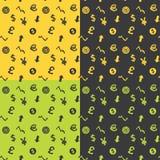 Nahtlose Muster-Geschäfts-Symbole Lizenzfreie Stockfotografie