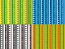 Nahtlose Muster mit Blumen und Blättern Lizenzfreie Stockfotos