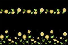 2 nahtlose Muster mit Blumen und Wanzen lizenzfreie abbildung