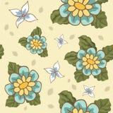 Nahtlose Muster mit Blumenvektor Lizenzfreie Stockfotos