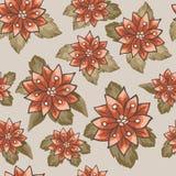 Nahtlose Muster mit Blumenvektor Stockfotografie
