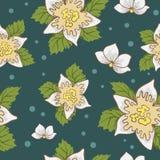 Nahtlose Muster mit Blumenvektor Stockfotos
