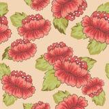 Nahtlose Muster mit Blumenvektor Stockbild