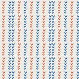 Nahtlose Muster mit Federblatt und Blumen Lizenzfreies Stockbild