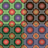 Nahtlose Muster mit Florenelementen Lizenzfreie Stockfotografie