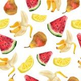 Nahtlose Muster mit Frucht Abbildung in der japanischen Art Stockbilder