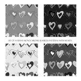 Nahtlose Muster mit Herzen lizenzfreie abbildung