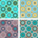 Nahtlose Muster mit Kreisen und Sternen Stock Abbildung