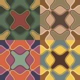 Nahtlose Muster mit unregelmäßigen geometrischen Formen Stockfotografie
