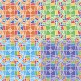 Nahtlose Muster mit unregelmäßigen geometrischen Formen Stockfoto