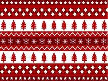 Nahtlose Muster mit Weihnachtsgewebebeschaffenheit Stockfotografie