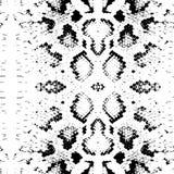 Nahtlose Muster Schlangenhautbeschaffenheit Schwarzes auf weißem Hintergrund Vektor Lizenzfreie Stockbilder