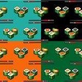 Nahtlose Muster-Sushi Lizenzfreies Stockbild
