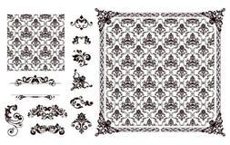Nahtlose Muster- und Auslegungelemente Lizenzfreies Stockbild