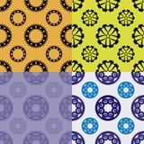 Nahtlose Muster von den Rädern und von den Gängen Stockfotografie