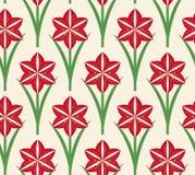 Nahtlose Muster Weihnachtsamaryllis vektor abbildung