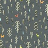 Nahtlose Muster Weihnachtsbäume Lizenzfreie Stockfotos