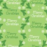 Nahtlose Muster Weihnachtsbaumaste und -schneeflocken Stockfotografie