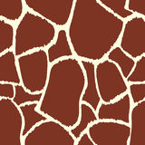 Nahtlose Musterbeschaffenheit der Giraffe Stockfotos