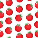 Nahtlose Musterbeschaffenheit der Tomate Tomatenhintergrundtapete Auch im corel abgehobenen Betrag Stockfotos