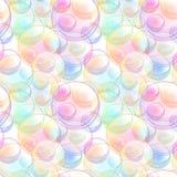 Nahtlose Musterbeschaffenheit gemacht von den Seifenblasen Stockfoto