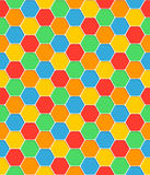 Nahtlose Musterbienenwabenbeschaffenheits-Hexagonformen vektor abbildung