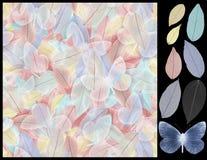 Nahtlose Musterblätter Stockbild