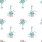 Nahtlose Musterblume des Carduusaquarells Lizenzfreie Stockfotos