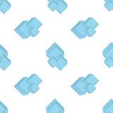 Nahtlose Mustereiswürfel auf einer weißen Isolierung Stockfotografie
