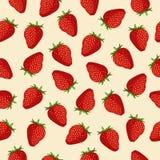 Nahtlose Mustererdbeeren Stockfotos