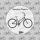 Nahtlose Musterfahrräder Einfache Illustration des Fahrrades für Netz und Druck Stockbild