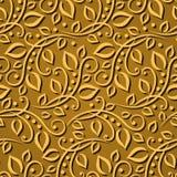Nahtlose Mustergoldblätter Elegante Beschaffenheit für Tapeten, Hintergründe und Seite füllen Elemente 3D mit Schatten und Höhepu Lizenzfreies Stockfoto