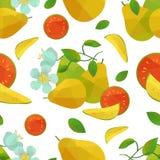 Nahtlose Musterguave und -blume Lizenzfreie Stockfotografie