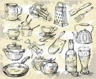 Nahtlose Musterhand gezeichnet stock abbildung