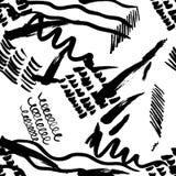 Nahtlose Musterhand gezeichnet mit Anschlägen einer Bürste Abstrakte Pinselstrichvektorillustration lizenzfreie abbildung