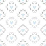 Nahtlose Musterherzfliese auf weißem Hintergrund Lizenzfreie Stockfotos