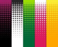 Nahtlose Musterhintergründe der schönen Herzkonturnzusammenfassung für Tapete Muster, Netz, Blog, Oberfläche, Beschaffenheiten, G Stockbilder