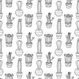 Nahtlose Musterillustration des Kaktus Stockfotografie