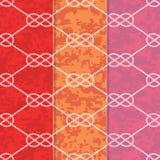 Satz drei nahtloser Tabelle 8 Hintergrund-Muster Stockfotos