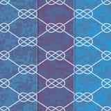 Satz drei nahtloser Tabelle 8 Hintergrund-Muster Stockbild