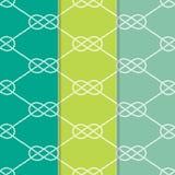 Satz drei nahtloser Tabelle 8 Hintergrund-Muster Stockfotografie